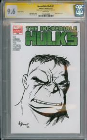 Incredible Hulk #1 Blank CGC 9.6 Signature Series Signed Mike McKone Sketch Marvel comic book